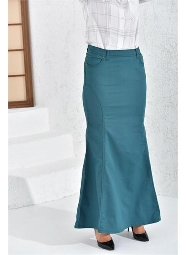 Rodi Jeans Kadın Parçalı Nakışlı Uzun Etek Ty16Yb071807 Renkli